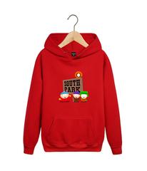 Толстовка красная с капюшоном (худи, кенгуру) и принтом Южный парк (South Park) 002