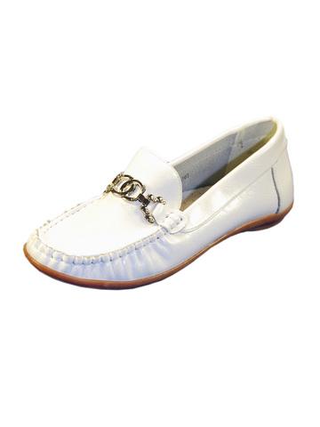Мокасины 5418-10 белые для девочки-подростка