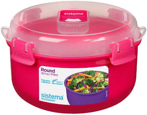 "Контейнер для СВЧ Sistema ""Microwave"" 915 мл, цвет Розовый"