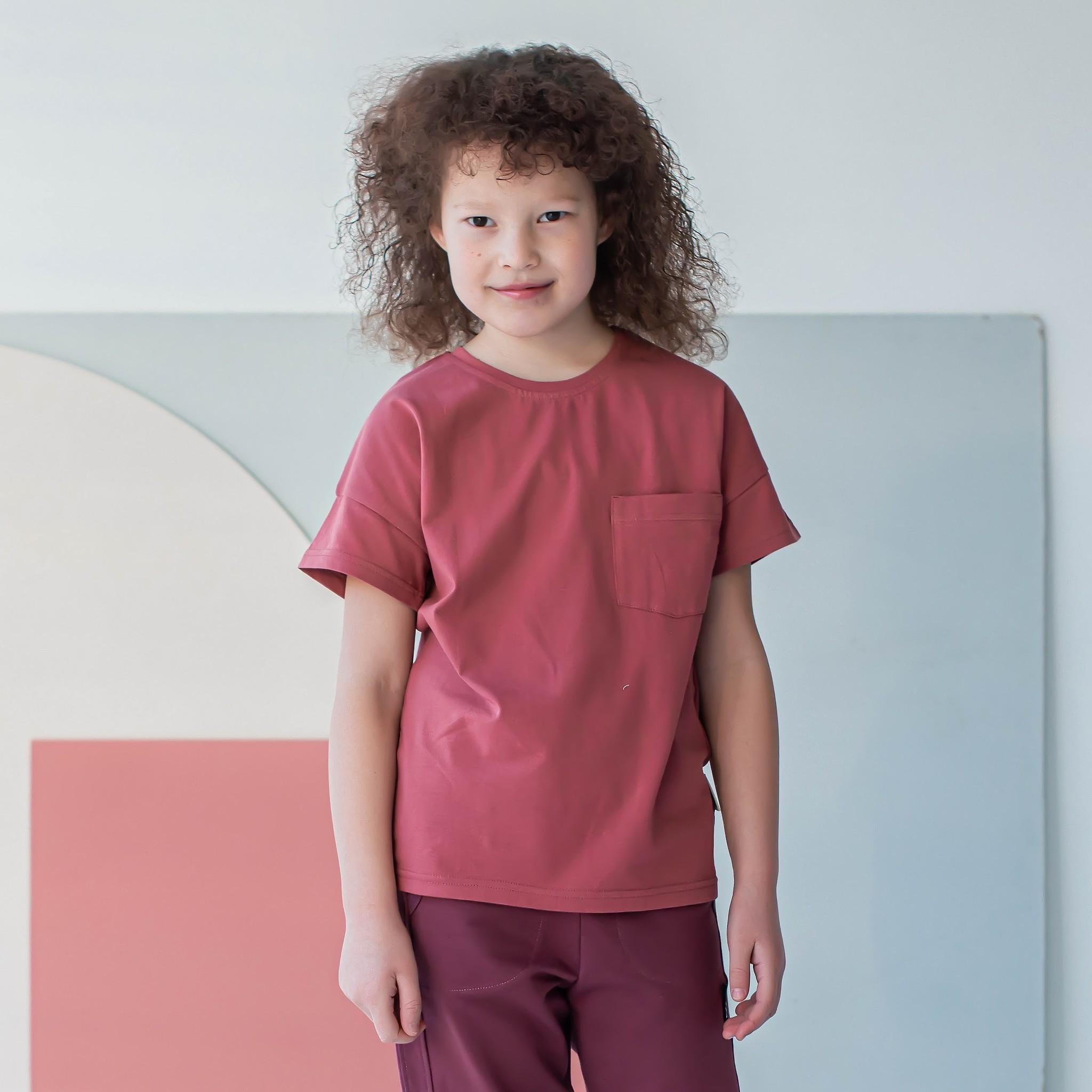 Basic T-shirt for teens - Dusty Cedar