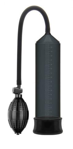Черная вакуумная помпа Erozon Penis Pump с грушей
