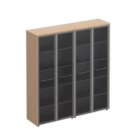 Шкаф для документов со стеклянными дверьми (184x46x196)