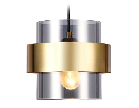 Подвесной светильник со сменной лампой TR3645 GD/SM золото/дымчатый E27 max 40W D180*950
