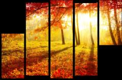 """Модульная картина""""Осенний листопад"""""""