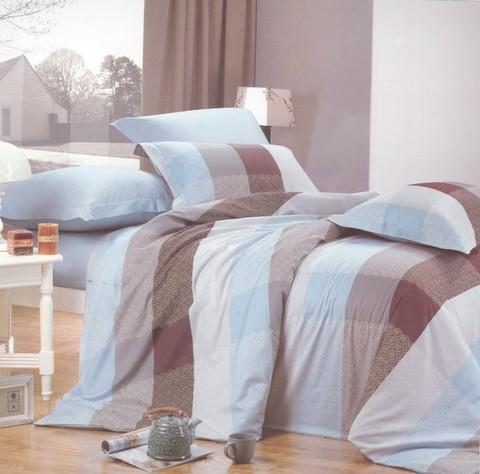 Сатиновое постельное бельё  1,5 спальное Сайлид  В-103