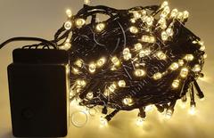 Гирлянда домашняя светодиодная нить 11м 140LED теплый белый