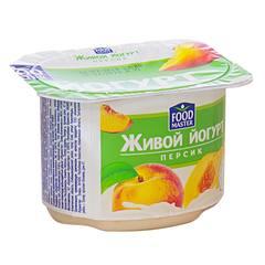 Йогурт ФудМастер с фруктовым наполнителем персик