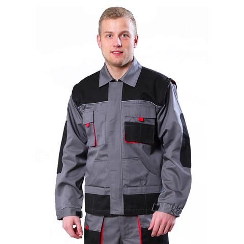 Куртка Хамертон, тк.смес.пл.260г/м2, цвет серый с черным