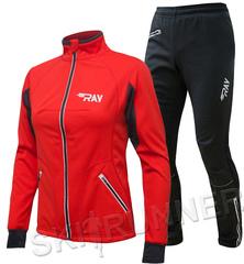 Утеплённый лыжный костюм RAY STAR WS Red-Black женский