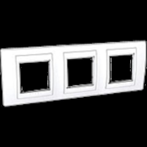 Рамка на 3 поста. Цвет Белый. Schneider electric Unica Хамелеон. MGU6.006.18