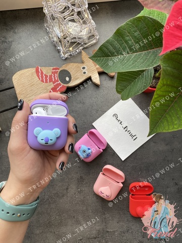 Чехол для AirPods silicone case Happy