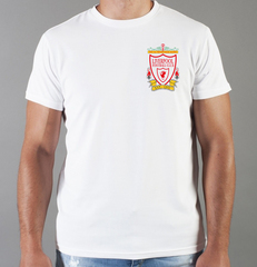 Футболка с принтом FC Liverpool (ФК Ливерпуль) белая 0018