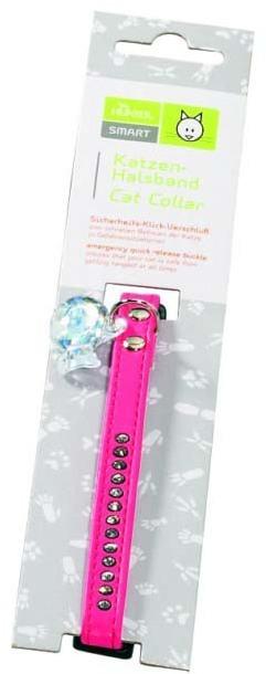 Ошейники, поводки Ошейник для кошек со стразами кожзам розовый, Hunter Smart Modern Luxus 70232.jpg