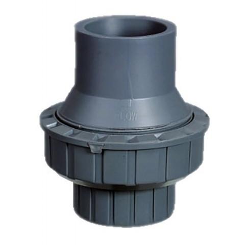 Обратный клапан 1-муфтовый подпружиненный ПВХ 1,0 МПа диаметр 40 PoolKing