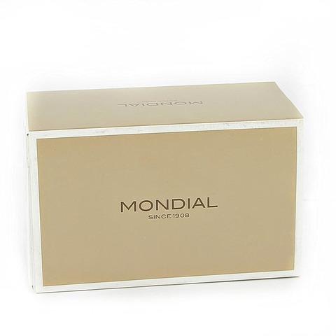 Набор бритвенный Mondial: станок, помазок, подставка; светлый и серый перламутр