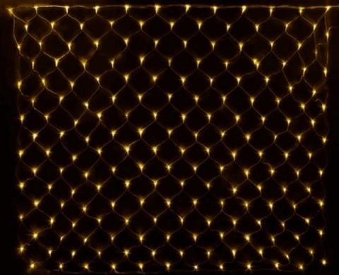 Гирлянда сетка LED Размер 180*180 Жёлтая
