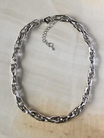 Колье Риабра, серебряный цвет