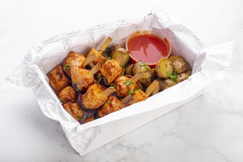 Шашлык из курицы с картофелем