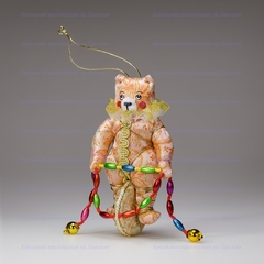 Игрушка текстильная Медведь на колесе