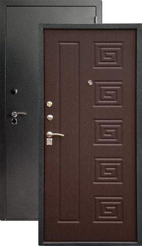 Дверь входная Н-2 стальная, венге, 2 замка, фабрика Арсенал