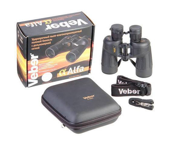 Комплект поставки бинокля Veber Alfa 8 42 WP
