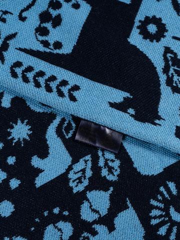 Зимний Вечер – синие тона № 3.2 (С бахромой)