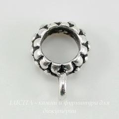Бейл TierraCast 14х10х4 мм (цвет-античное серебро)
