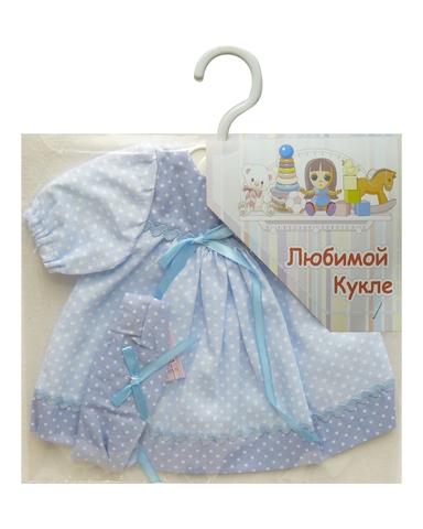 Платье - Голубой. Одежда для кукол, пупсов и мягких игрушек.