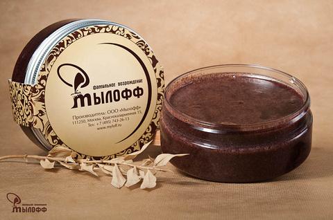 Клубничный сахарный скраб для тела с маслами ши и кокоса и витамином Е, 250 г, ТМ Мылофф