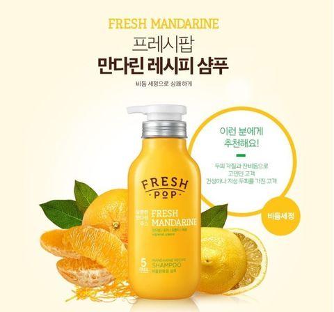 Шампунь «Свежий мандарин» от перхоти и для сухих ослабленных волос AmorePacific Fresh Pop Fresh (500мл)