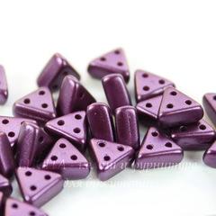 Бусина Emma Треугольник с 3 отверстиями, 6х3 мм, пастельно-фиолетовая
