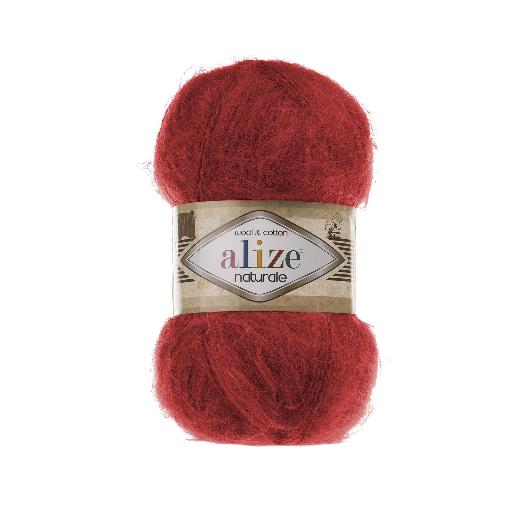 Пряжа Alize Naturale 105 красный