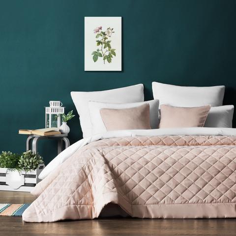 Комплект штор и покрывало Кира бледно-розовый