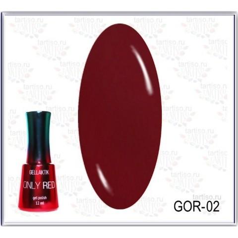 Gellaktik Гель-лак красный GOR-02 12 мл