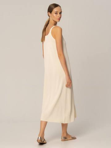 Женское платье белого цвета из шелка и вискозы - фото 4