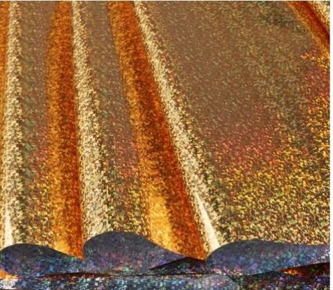 Пленка голография (размер: 70см*8,3м, 30мкм), цвет: золото