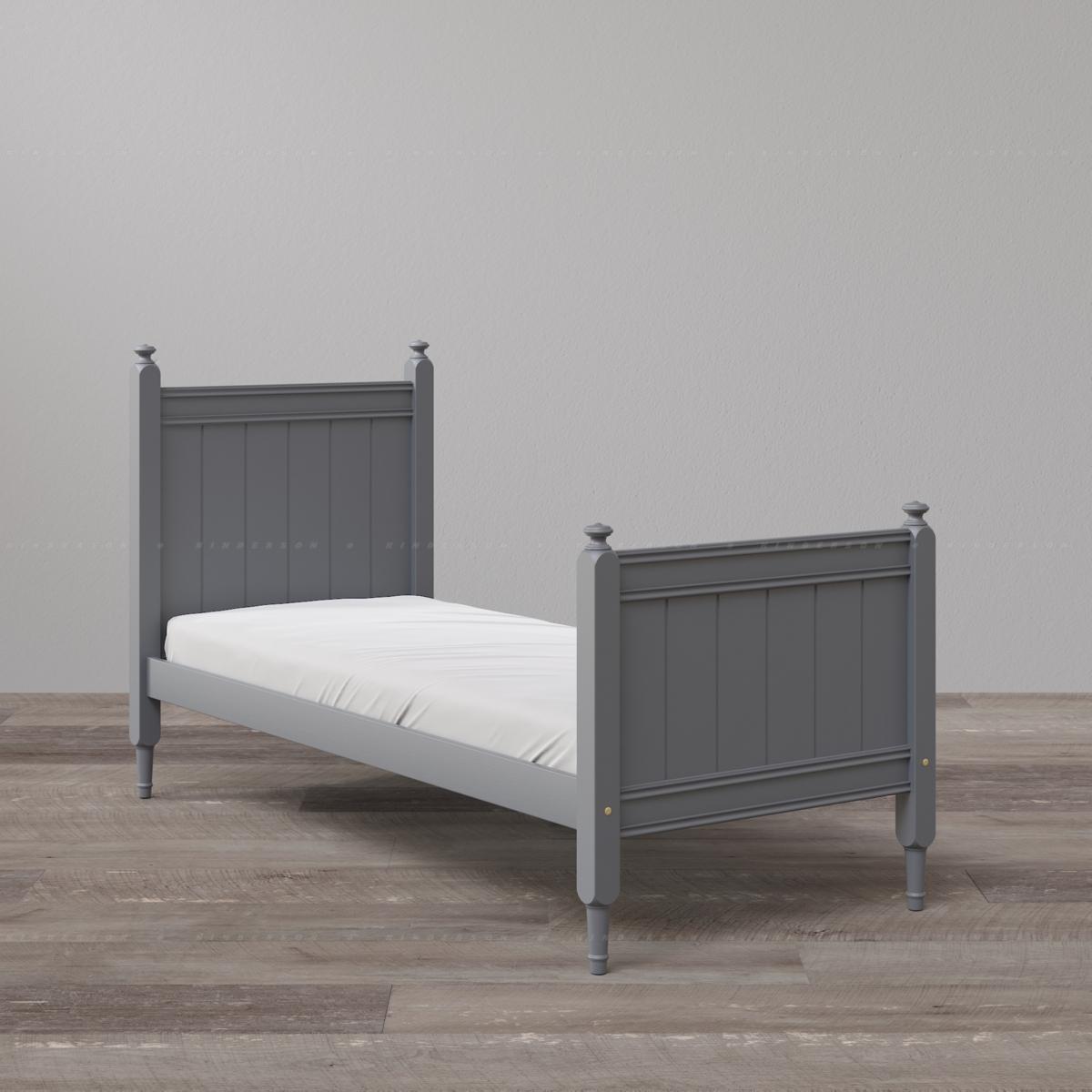 Односпальная кровать с двумя высокими спинками. Базовая комплектация. Цвет ral7024 графит.