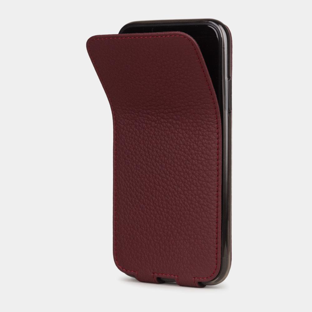 Чехол для iPhone 11 из натуральной кожи теленка, бордового цвета