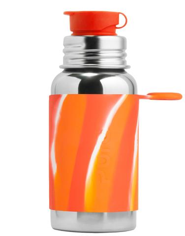 Стальная спортивная бутылка PURA 550 мл (оранжевый вихрь)