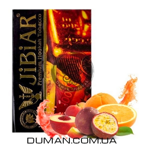 Табак JiBiAR Escobar (Джибиар Эскобар - Апельсин, Маракуйя, Персик) 50g