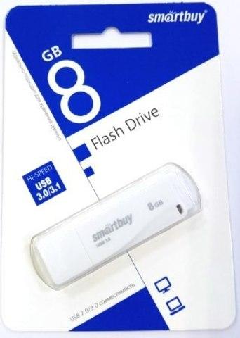 Флеш-накопитель USB 3.0  8GB  Smart Buy  LM05 белый