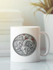 Кружка с изображением Знаки Зодиака, Овен (Гороскоп, horoscope) белая 004