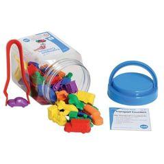 Развивающая игрушка фигурки Транспорт (счетный материал, 37 элементов) Edx education