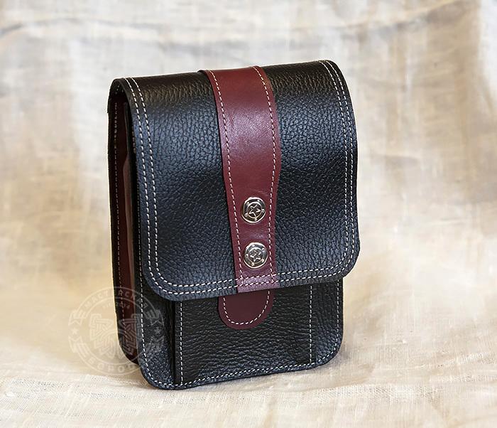 BAG379-3 Мужская поясная сумка ручной работы их натуральной кожи
