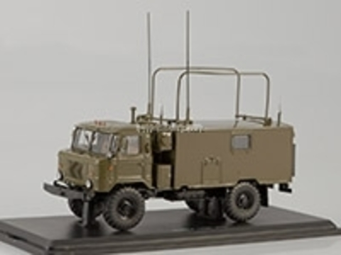 GAZ-66 Command-staff vehicle KShM R-142N khaki 1:43 Start Scale Models (SSM)