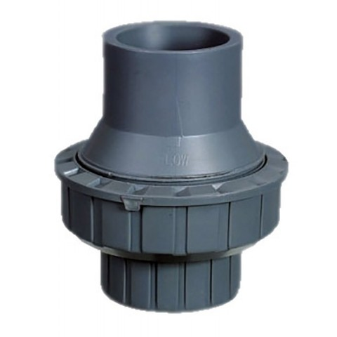 Обратный клапан 1-муфтовый подпружиненный ПВХ 1,0 МПа диаметр 63 PoolKing