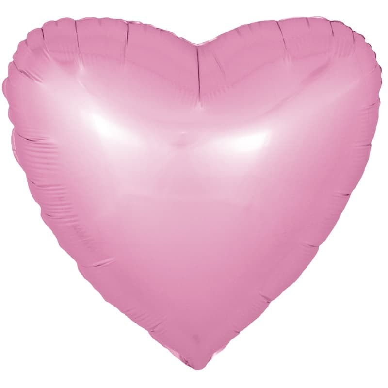 Фольгированный воздушный шар большое сердце, розовое , 81 см