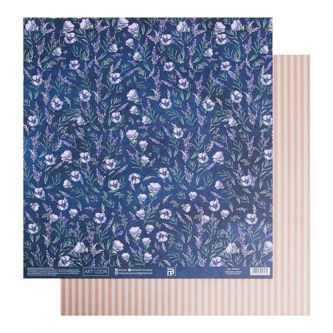 Бумага для скрапбукинга «Анемоны», 30.5 × 32 см, 180 гм