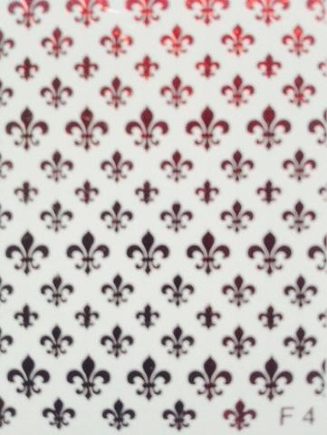 Слайдер наклейки фольга цвет красный MILV №F4 купить за 50руб