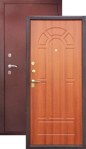Дверь входная Н-2 стальная, итальянский орех, 2 замка, фабрика Арсенал